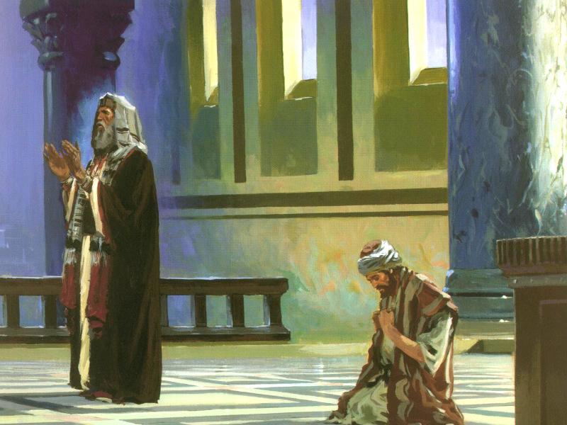 Resultado de imagen de El fariseo y el publicano en el templo